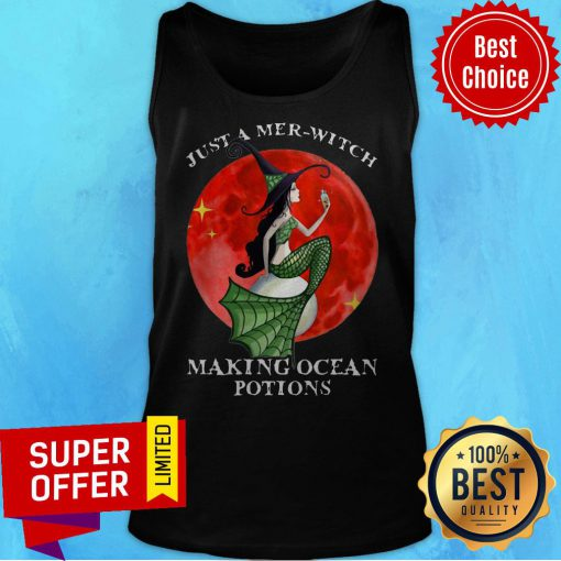 Mermaid Just A Mer Witch Making Ocean Potions Halloween Tank Top