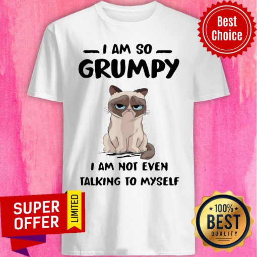 Nice Cat I Am So Grumpy I Am Not Even Talking To Myself Shirt