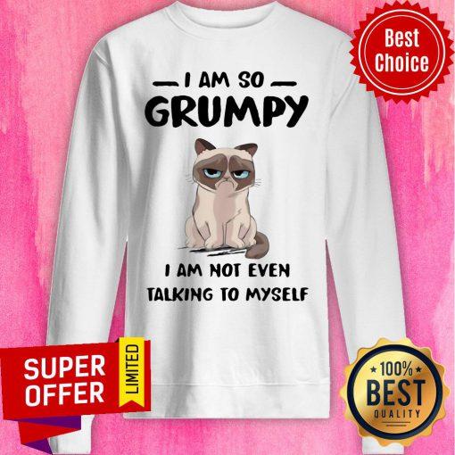 Nice Cat I Am So Grumpy I Am Not Even Talking To Myself Sweatshirt