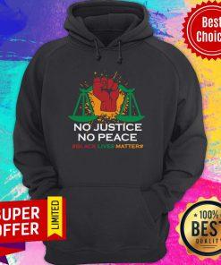 Premium No Justice No Peace Black Lives Matter Hoodie