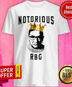 Awesome Ruth Bader Ginsburg Notorious RBG Crown Shirt