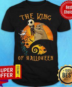 Awesome The Raptor King Skellington Halloween Shirt