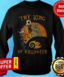 Awesome The Raptor King Skellington Halloween Sweatshirt