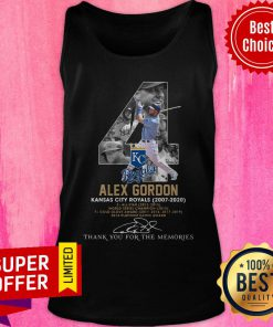 Kansas City Royals 4 Alex Gordon Thank You For The Memories Signature Tank Top