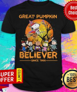 Nice The Peanuts Snoopy Great Pumpkin Believer Since 1966 Shirt