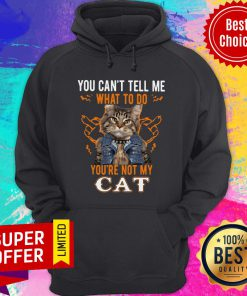Nice You Can't Tell Me What To Do You're Not My Cat Hoodie