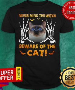 Official Never Mind The Witch Beware Of The Cat Shirt