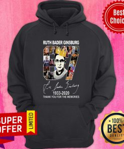 Ruth Bader Ginsburg Crown 87 Years 1933 2020 Thank You For The Memories Signature Hoodie