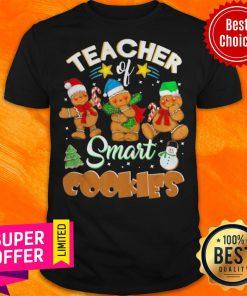Funny Teacher Of Smart Cookies Christmas Snowman Shirt