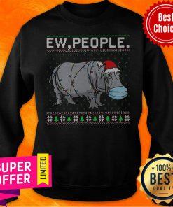 Official Hippopotamus Ew People Ugly Christmas Sweatshirt
