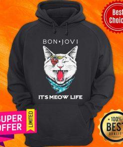 Premium Cat Bon Jovi It'S Meow Life Hoodie