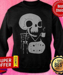 Official Skeleton Drink Coffee Saves Halloween Sweatshirt