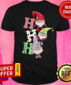 Top Gnomes Ho Ho Ho Merry Christmas Shirt