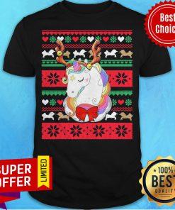 Top Reindeer Unicorn Ugly Christmas Unicorn Shirt