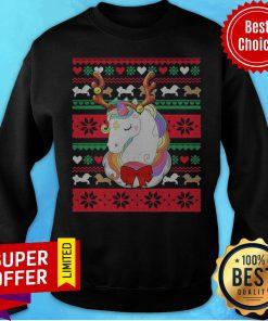 Top Reindeer Unicorn Ugly Christmas Unicorn Sweatshirt