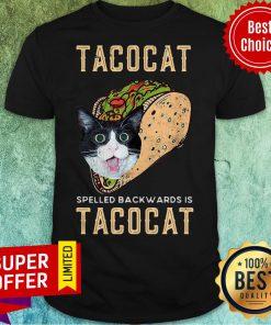 Top Tacocat Spelled Backwards Is Tacocat Shirt
