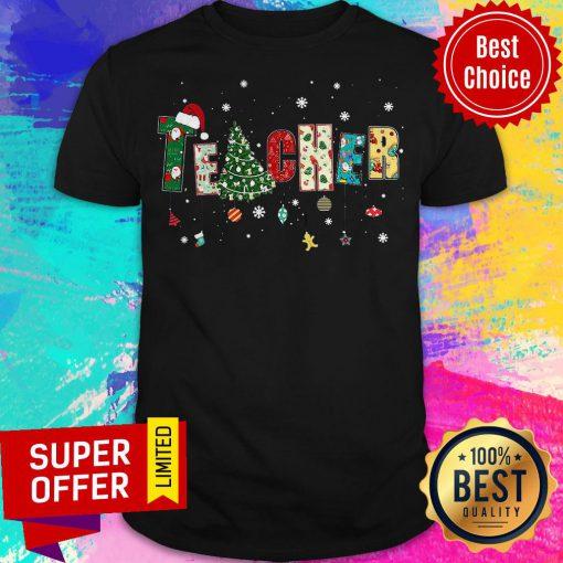 Top Teacher Merry Christmas Shirt