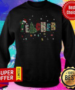 Top Teacher Merry Christmas Sweatshirt