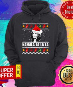 Funny Kamala Harris La La La Christmas Ugly Hoodie