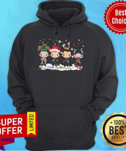 Funny The Beatles Merry Christmas Hoodie