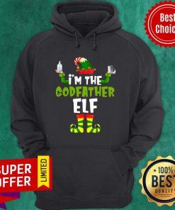 Premium I'm The Godfather Elf Quarantine Matching Christmas Hoodie