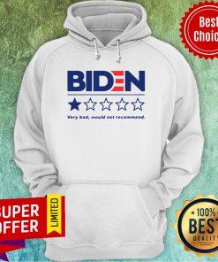 Premium Joe Biden Very Bad Would Not Recommend Hoodie