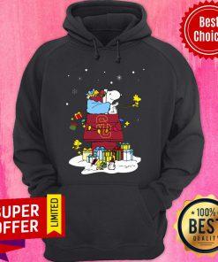 Premium USC Trojans Santa Snoopy Wish You A Merry Christmas Hoodie