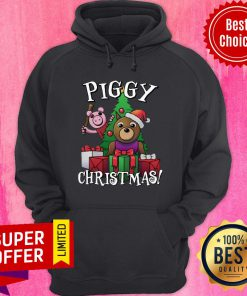 Awesome Bear And Pig Piggy Christmas Hoodie