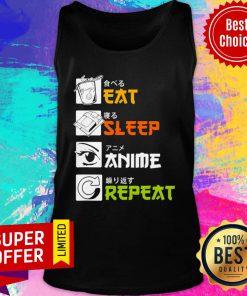 Awesome Eat Sleep Anime Repeat Vintage Tank Top