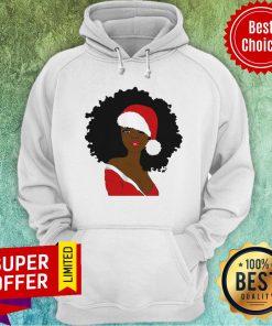 Awesome Merry Christmas Santa Black Girl Hoodie