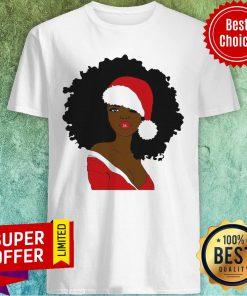 Awesome Merry Christmas Santa Black Girl Shirt