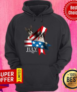 French Bulldog 4 Of July Independence Day American Flag Hoodie