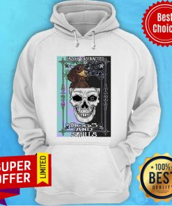 Nice Dachshund And Skull Easily Distracted By Dogs And Skulls Hoodie