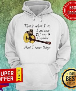 Nice That's What I Do I Pet Cats I Play Guitars And I Know Things Hoodie