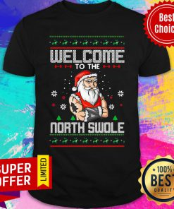 Top Welcome To The North Swole Hunk Ugly Christmas Shirt
