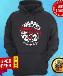 Official Happy Quarantined Valentine's Day 2021 Registered Nurse Hoodie