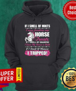 Official If I Smell Of Mints I Was Feeding My Horse Treats If I Smell Of Shampoo Hoodie