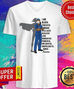 I Am Black Nurse Educated Magic Intelligent V-neck