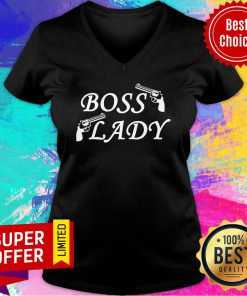 Official Boss Lady Gun V-neck