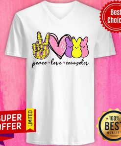 Top Peace Love Counselor V-neck