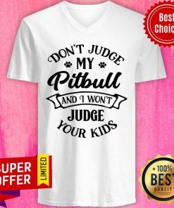 Don't Judge My Pitbull And I Won't Judge V-neck