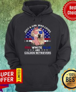 Loves Red White Blue And Golden Retrievers Hoodie
