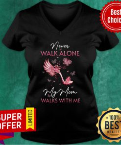 My Mom In Heaven Walks With Me V-neck