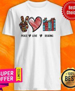 Premium Peace Love Reading Book Shirt