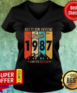 Aged To Being Awesome August 1987 Limited Edition V-neck