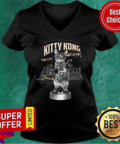Funny Cat Kitty Kong V-neck