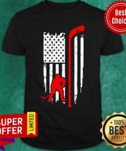 Hockey American Flag Hockey Stick Shirt