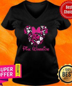 Mickey Girl Pink Warrior V-neck