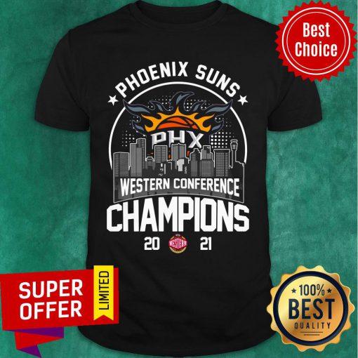 Phoenix Suns Western Conference Champions 2021 Baseball PHX Shirt