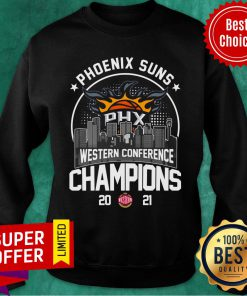 Phoenix Suns Western Conference Champions 2021 Baseball PHX Sweatshirt